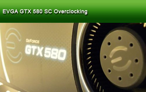 EVGA GeForce GTX 580 Superclocked GPU Overclocking Session