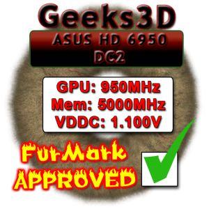 ASUS HD 6950 DirectCU II, FurMark Approved