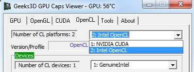 Intel OpenCL + NVIDIA OpenCL
