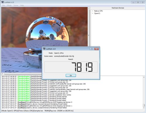 LuxMark OpenCL Benchmark - Radeon HD 6950 + HD 5770