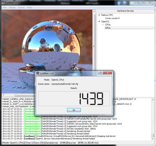 LuxMark OpenCL Benchmark