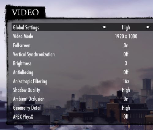 MAFIA II high settings