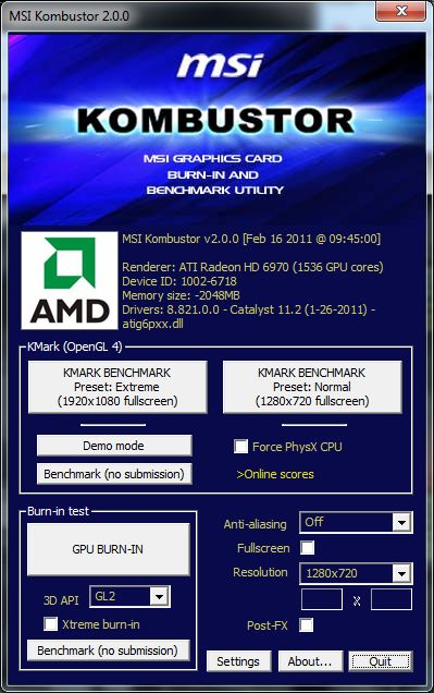 MSI Kombustor 2.0.0 Released With New OpenGL 4.0 Benchmark