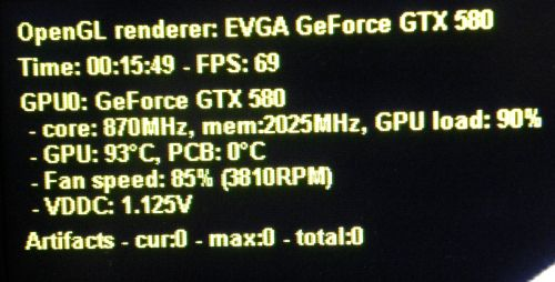 EVGA OC Scanner artifacts, GTX 580 SC
