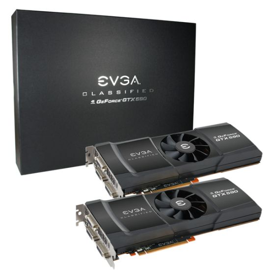 EVGA GTX 590 Classified Quad SLI P