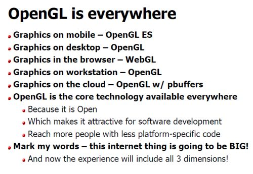 OpenGL is everywhere