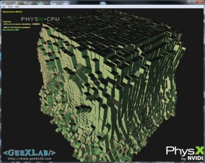 GeeXLab - PhysX collision demo