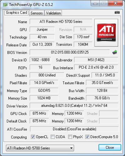 GPU-Z 0.5.2