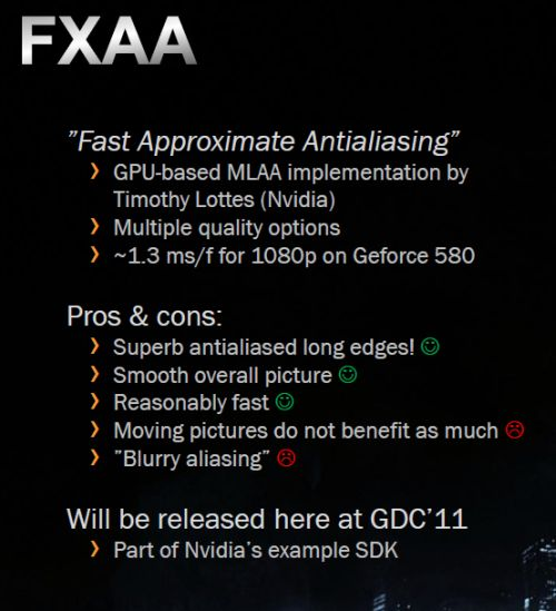 FXAA demo - OpenGL / GLSL, GeeXLab