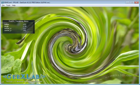 Swirl Post Processing Filter in GLSL