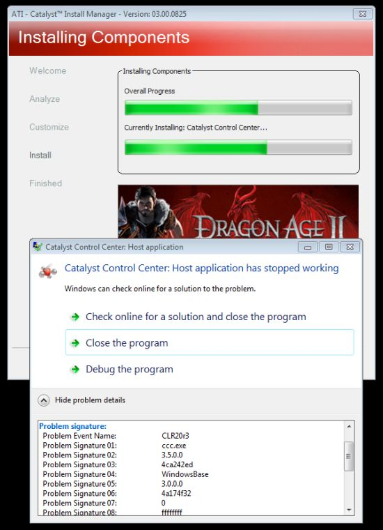 AMD Catalyst 11.5, CCC crash...