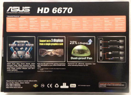 ASUS Radeon HD 6670 box