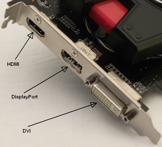 ASUS Radeon HD 6670 output connectors