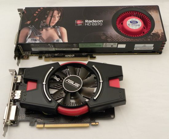 ASUS Radeon HD 6670 vs SAPPHIRE HD 6970