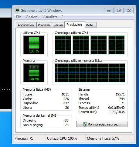 HP Mini 210-2100 Netbook, CPU test, AOGenMark, CPU usage