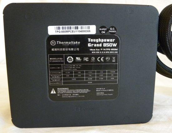 Thermaltake Toughpower Grand 850W PSU Review