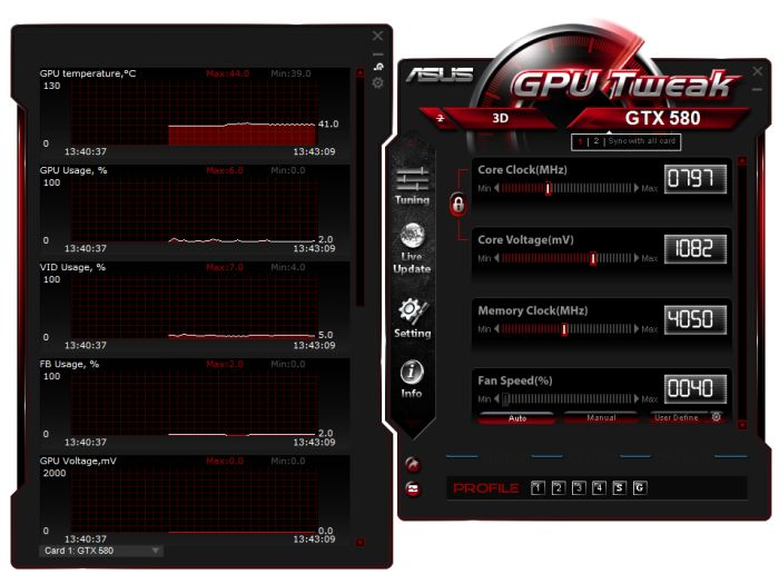 ASUS GPU Tweak on EVGA GTX 580