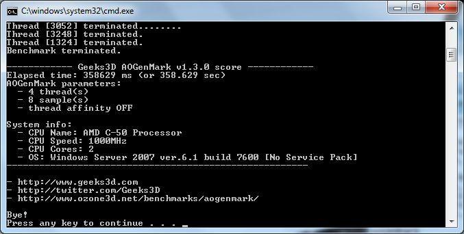 ASUS EeePC 1215B Netbook - AOGenMark score