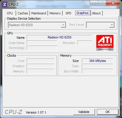 ASUS EeePC 1215B Netbook - CPU-Z