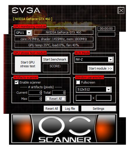 EVGA OC Scanner 1.7.0