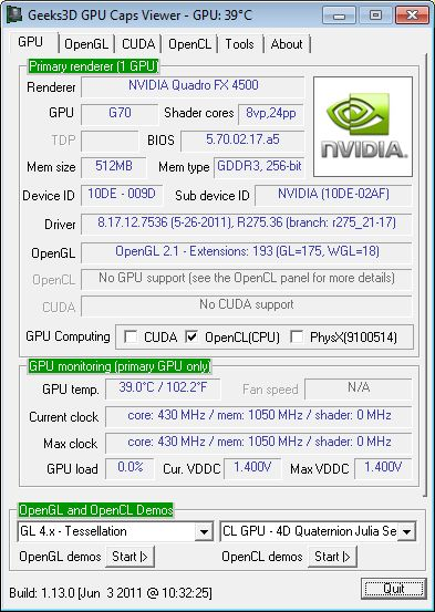NVIDIA Quadro FX 4500