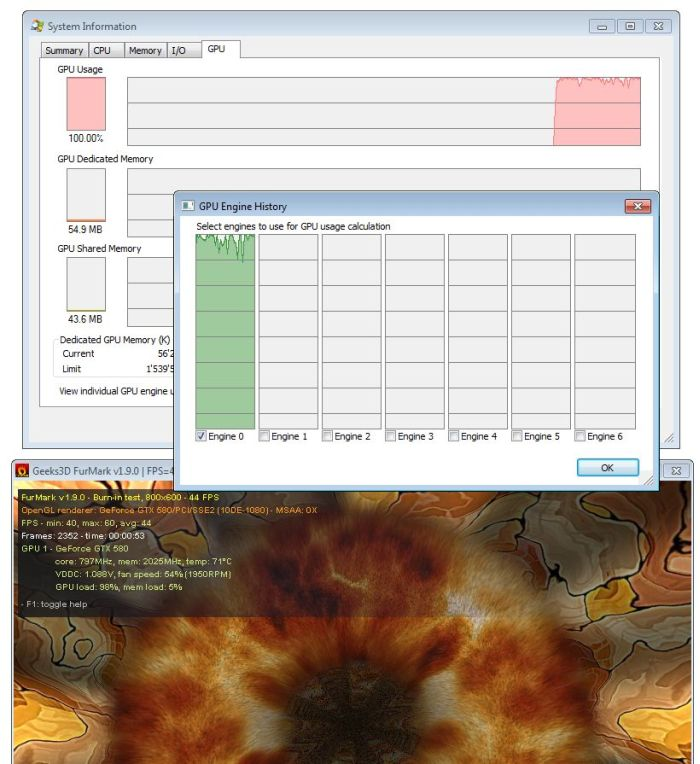 Process Explorer 15.0 With GPU Support, GTX 580