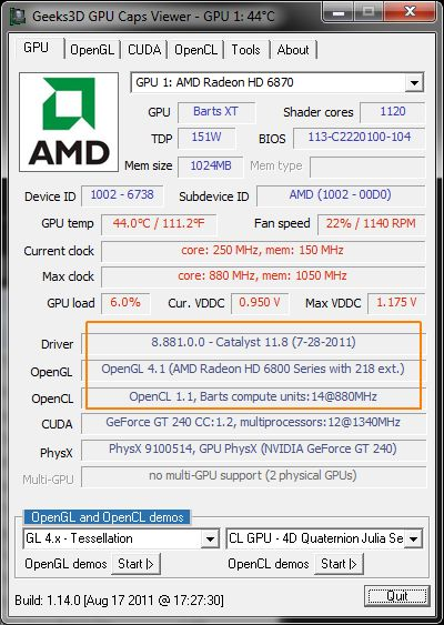 AMD Catalyst 11.8 WHQL, GPU Caps Viewer
