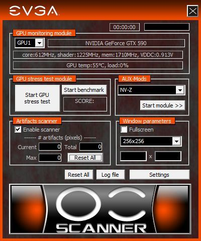 EVGA OC Scanner 1.7.3