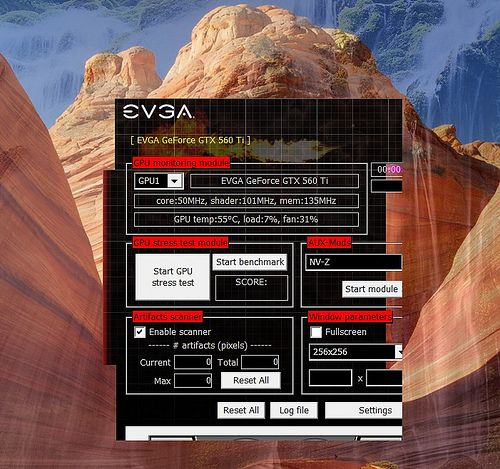 EVGA OC Scanner, bad scaling with high DPI settings