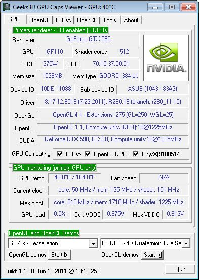 R280.19, GeForce GTX 590