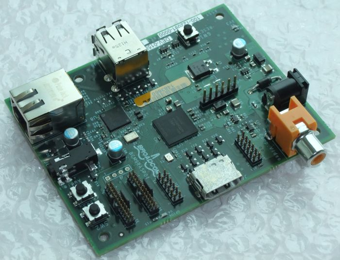 Raspberry Pi Board with a Broadcom BCM2835 GPU
