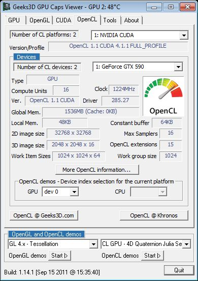 GPU Caps Viewer 1.14.1