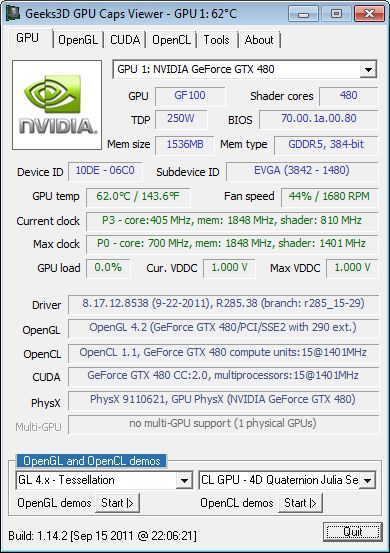 NVIDIA R285.38, GPU Caps Viewer