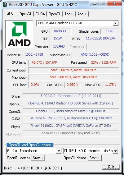 AMD Catalyst 11.10 GPU Caps Viewer