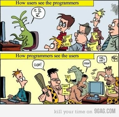 How Users See the Programmers, How Programmers See the Users