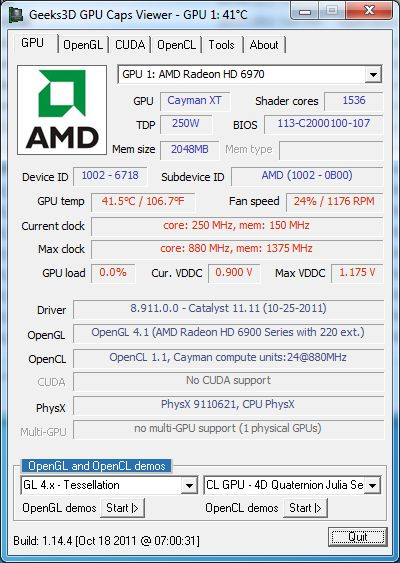 AMD Catalyst 11.11 GPU Caps Viewer