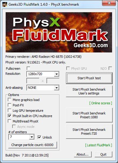 FluidMark 1.4.0, main GUI
