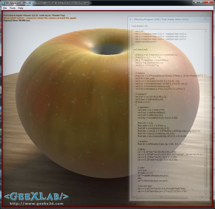 Procedural Apple in GLSL