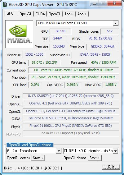 NVIDIA R285.79, OpenGL 4.2 driver