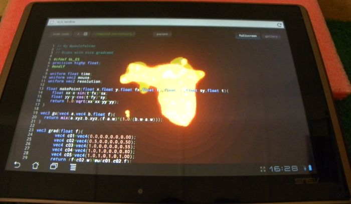 ASUS Eee Pad Transformer, WebGL test