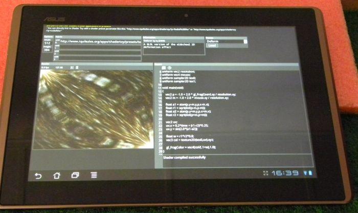 ASUS Eee Pad Transformer, WebGL test
