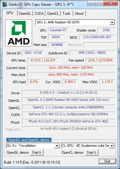 AMD Catalyst 11.12 GPU Caps Viewer
