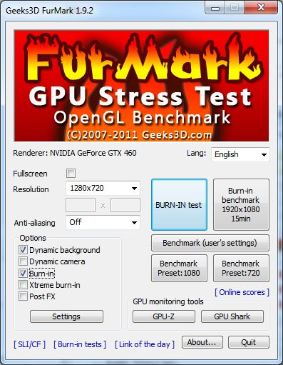 FurMark 1 9 2 Released (GPU Stress Test Utility, OpenGL