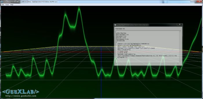 (Shader Library) Electrocardiogram Effect (GLSL)
