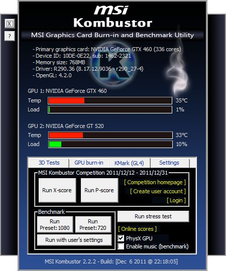 MSI Kombustor 2.2.2