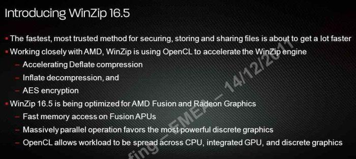 WinZip, OpenCL, AMD, Radeon