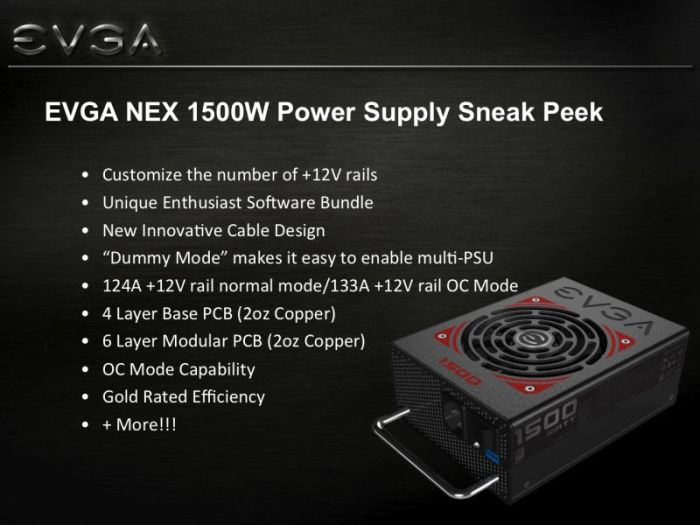 EVGA 1500W NEX Power Supply Unit, features