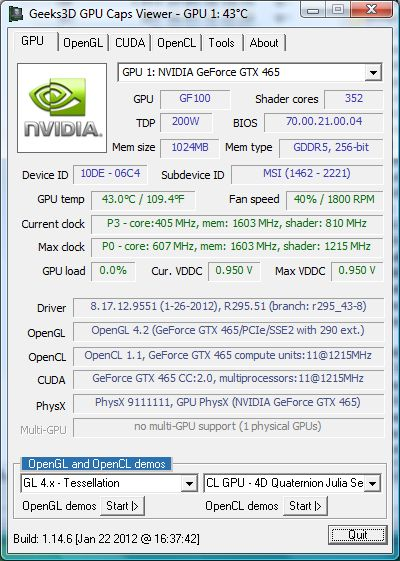 NVIDIA R295.51, GPU Caps Viewer