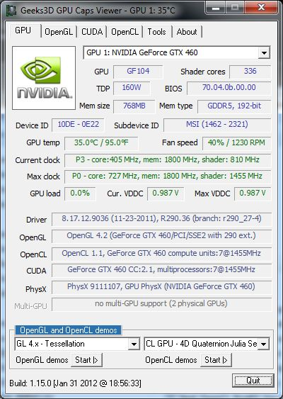 GPU Caps Viewer 1.15.0