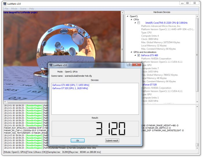 LuxMark 2.0, OpenCL Benchmark for GPUs and CPUs